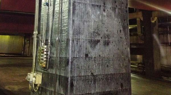 Reparation och förstärkning av betongpelare med kevlar