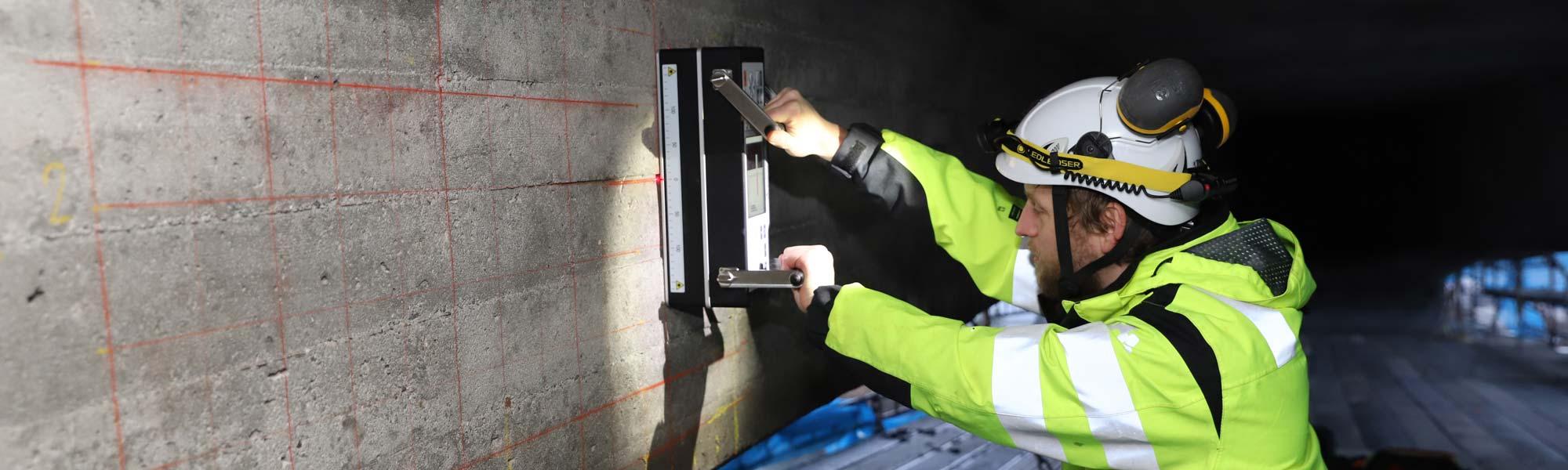 Tomografimätning av betongkonstruktion